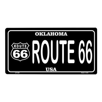 Smart Blonde Route 66 Oklahoma Vanity Metal Novelty License Plate Tag Sign