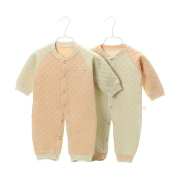 2016 Autumn Winter Newborn Baby Boy Clothes Organic Cotton Baby Rompers Infant Jumpsuit Girls Body Baby Clothes New Born YJM103
