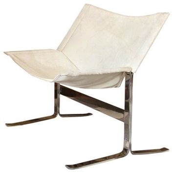 Global Views Cantilever Chair- White