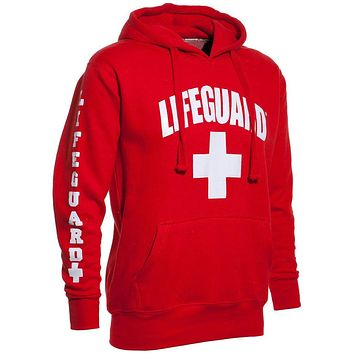 Autumn and winter 3 Side Print Lifeguard man Hoodie Sweatshirt Red Life Guard New Unisex XS-2XL