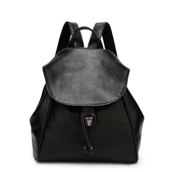 Back To School Stylish Leather Casual Backpack [6581508039]