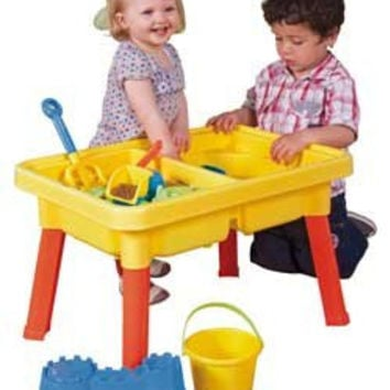 Sandbox Castle 2-in-1 Sand and Water Table w/Beach Playset