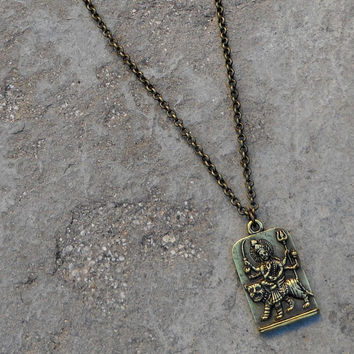 Durga Pendant Chain Necklace