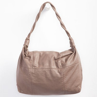 Deb & Dave Braid Strap Hobo Bag Taupe One Size For Women 24242641301
