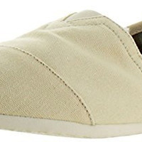 TOMS Men's Classic Canvas Slip-On,Light Beige,8 M