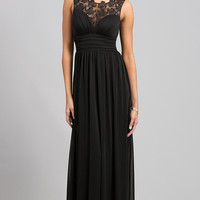 Floor Length Sleeveless Black Dress
