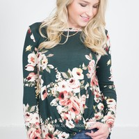 Forest Beauty Floral Knot Top