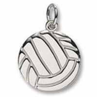 Volleyball Charm In Sterling Silver