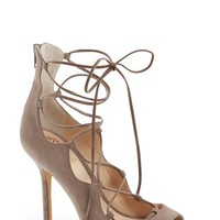 Women's Vince Camuto 'Sandria' Lace Up Peep Toe Sandal,