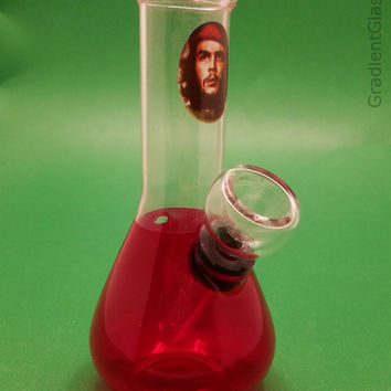 Red  Che Guevara  Glass Water Pipes