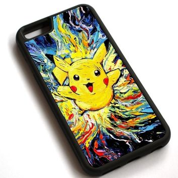 Cartoon Anime Pikachu -  Case Cover For Apple iPhone 7 7PlusKawaii Pokemon go  AT_89_9