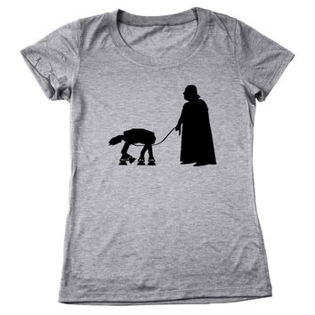 At-At Walker Women's Relaxed Fit Tri-Blend T-Shirt