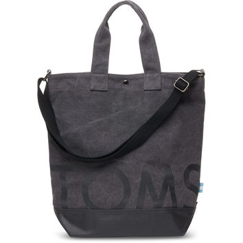 CHARCOAL TOMS COMPASS TOTE