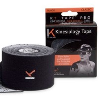 KT TAPE Original Cotton Elastic Kinesiology Therapeutic  Tape - 20 Feet Uncut Roll, Black