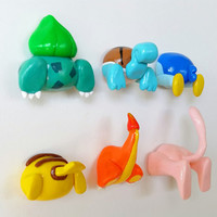 Pokemon Butt Magnets ANY TWO- Handmade Polymer Clay Pokemon Ass Anime Office Fridge - Pikachu, Mew, Piplup, Charmander, Squirtle, Bulbasaur