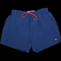 The Dock Dog Swim Trunk in Navy w/ Red Trim by Over Under Clothing - FINAL SALE