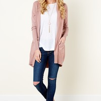 Honor Code Mauve Cardigan