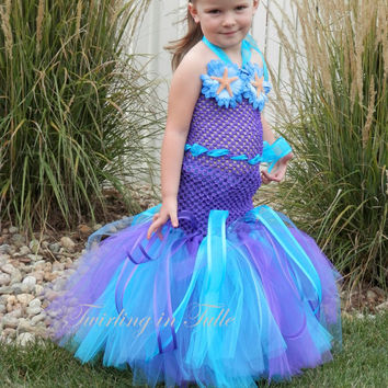 Mermaid Halloween Costume Tutu Size 5-6
