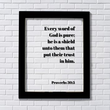 Proverbs 30:5 - Every word of God is pure he is a shield unto them trust in him - Scripture Verse