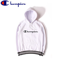 Unisex Champion White Embroidery Fashion Hoodies [9555842183]