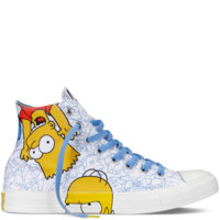 Converse - The Simpsons Chuck Taylor All Star - Hi - White Multi