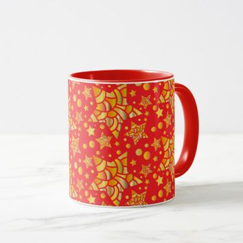 Golden Stars Pattern Mug