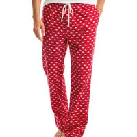 Santa Whale Flannel Lounge Pants