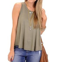 Afternoon Tee Tank, Olive