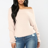 Esther Off The Shoulder Sweater - Blush