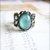 Ring, Aqua Ring, Christmas Gift Idea for Her, Sister Ring, Best Friends Gift for Girlfriend Wife