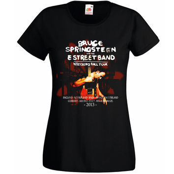 Bruce Springsteen Wrecking Ball 2013 Tour Woman T-shirt