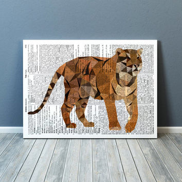 Wall decor Tiger poster Animal print Geometric art TOA82-1