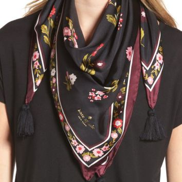 kate spade new york in bloom square silk scarf | Nordstrom