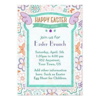 "Hello Spring Floral Easter Invitation 5"" X 7"" Invitation Card"