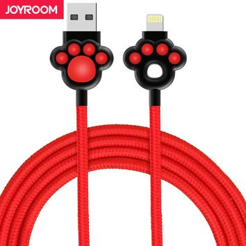 Joyroom USB Cable For iPhone 6S nylon ios 1m Fast Charger Data Cable For iPhone 7 6 6S Plus 5 5S  iPad Mobile Phone Cables