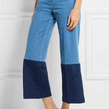 Stella McCartney - Cropped high-rise wide-leg jeans
