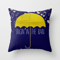 SINGIN' IN THE RAIN- MINIMALIST POSTER Throw Pillow by Rebecca Allen