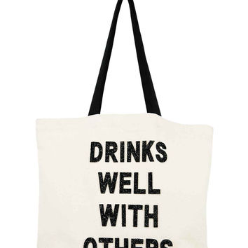 Limited Edition Designer Tote-Drinks Well With Others
