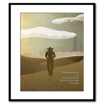 The Man in Black - The Dark Tower - Stephen King Inspired - Movie Poster Art Print Wall Art Cover Art