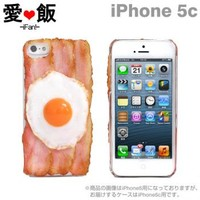 Strapya World : iMeshi Japanese Food iPhone 5c Case (Sunny Side Up w/ Bacon)
