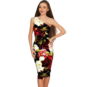 Put Your Crown On Layla Black Floral Evening Dress - Women