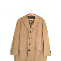 Men's Wool Coat Wool Jacket Camel Coat Camel Jacket Long Men's Jacket Size 46