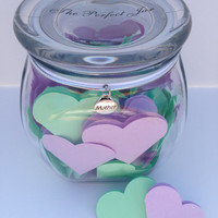 Mother's Day Personalized Gift Jar, Exclusive 2 color jar, Sentimental love messages for mom