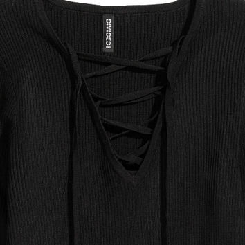 Top with Lacing - from H&M