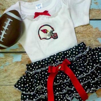 Girls Arizona Cardinals Cheerleader Outfit, Baby Girls Football Coming Home Outfit