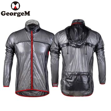 Outdoor Sports Waterproof Cycling Raincoat Bike Bicycle Running Cycling Jacket Coat Jersey Foldable Black/ Blue/ Green/White