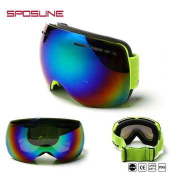 Winter Ski Goggle Men And Women Snow Glasses Double Anti-fog Wind Snow Mirror Cross-country Skiing Protection Snowmobile Goggles