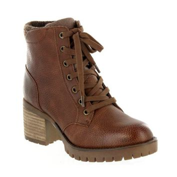 Jonel Lace Up Boot in Luggage Brown