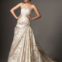 CAROLINA HERRERA Ivory Beaded-Neck Ball Gown Dress 8 on eBay!