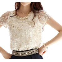 Women's Summer Chiffon Short Sleeves Shirt